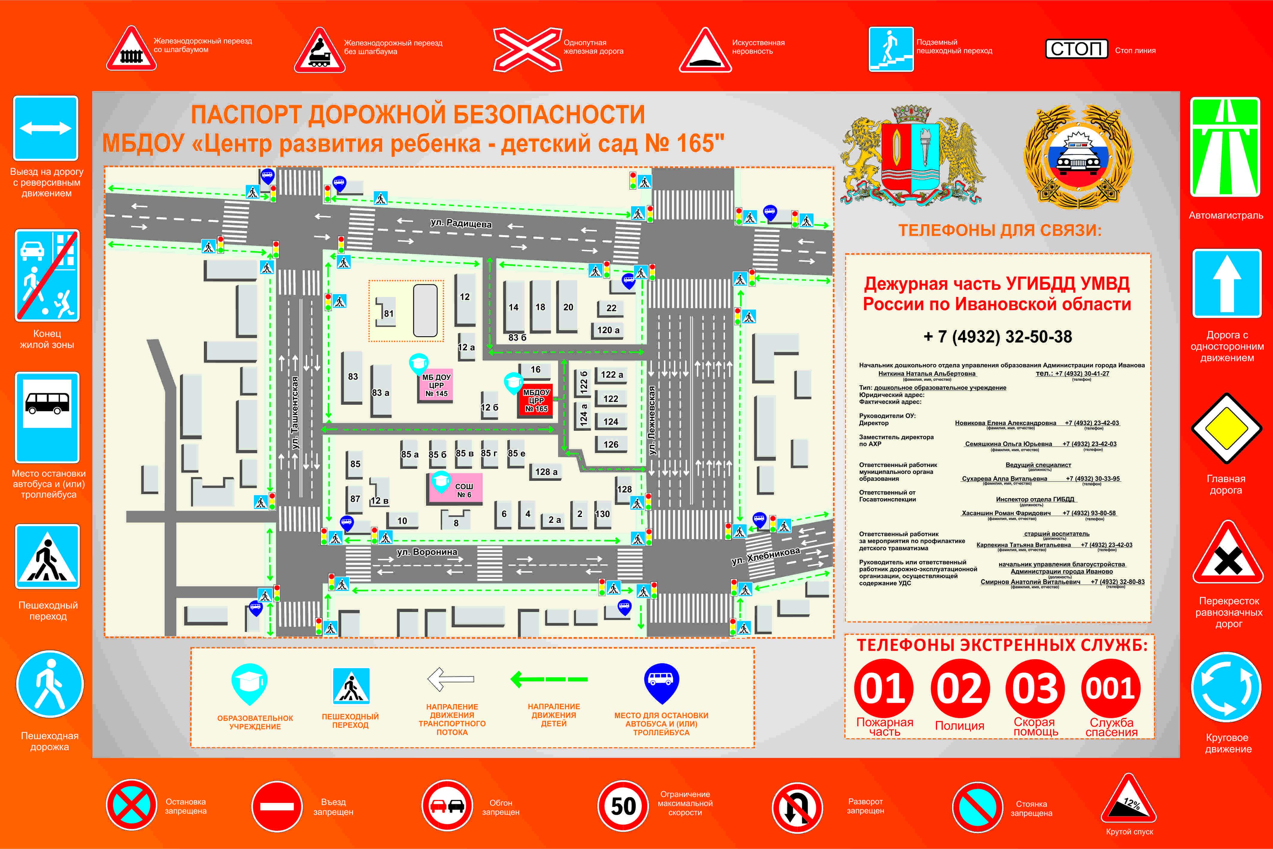 схема безопасного маршрута к детскому саду